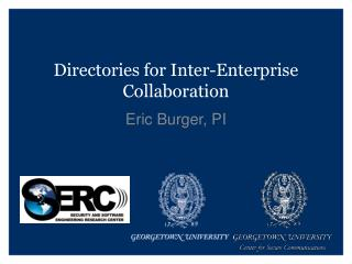 Directories for Inter-Enterprise Collaboration