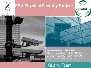 PSU Physical Security Project