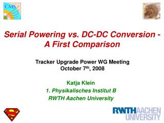Serial Powering vs. DC-DC Conversion - A First Comparison