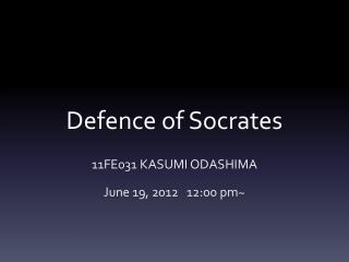 Defence  of Socrates