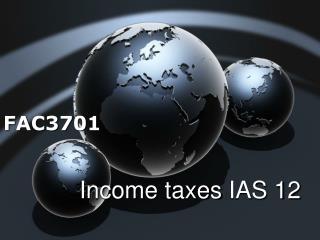 Income taxes  IAS  12