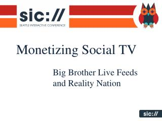 Monetizing Social TV
