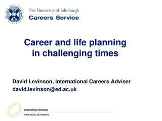 Career and life planning in challenging times