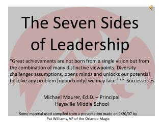 The Seven Sides of Leadership