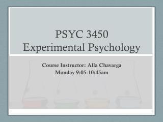 PSYC 3450 Experimental Psychology