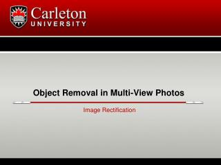 Object Removal in Multi-View Photos