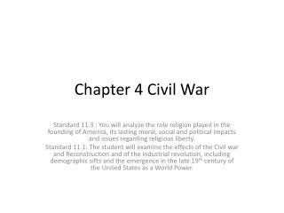 Chapter 4 Civil War