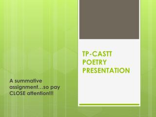 TP-CASTT POETRY PRESENTATION
