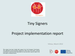 Tiny Signers Project implementation report