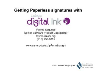 Getting Paperless  signatures with