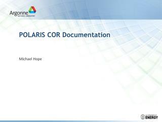 POLARIS COR Documentation