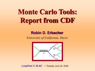 Monte Carlo Tools: Report from CDF