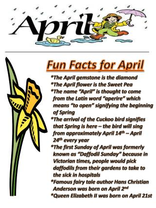 Fun Facts for April