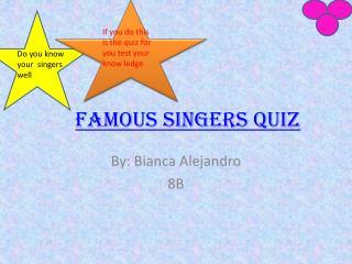 Famous Singers Quiz