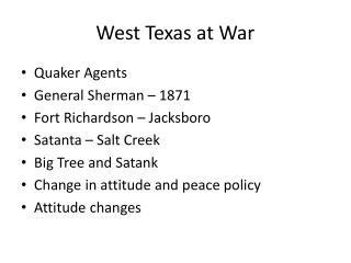 West Texas at War