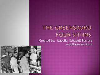 The Greensboro four sit-ins