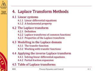 4 . Laplace Transform Methods