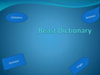 Beast Dictionary