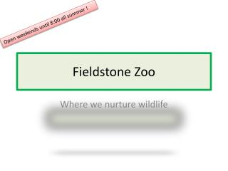 Fieldstone Zoo