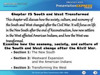 Chapter  15 South and West Transformed