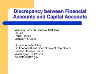 Discrepancy between Financial Accounts and Capital Accounts