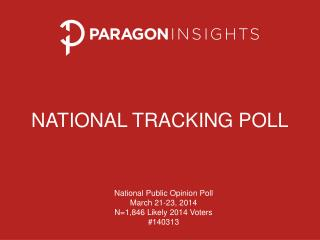 NATIONAL TRACKING POLL