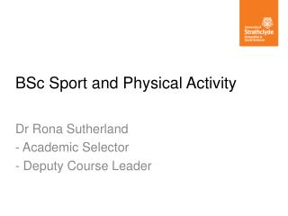BSc Sport and Physical Activity