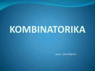 KOMBINATORIKA