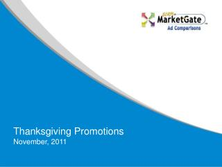 Thanksgiving Promotions November, 2011