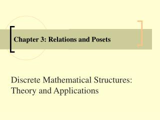 Chapter 3: Relations and Posets