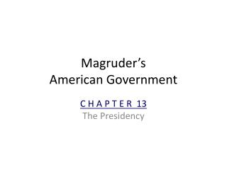 Magruder�s American Government
