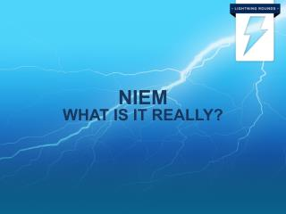 NIEM What is it really?