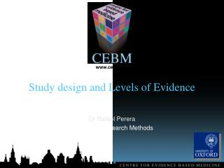 Study design and Levels of Evidence