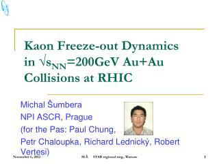 Kaon  Freeze-out Dynamics  in √s NN =200GeV  Au+Au  Collisions at RHIC