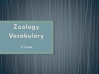 Zoology Vocabulary