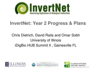 InvertNet: Year 2 Progress  &  Plans