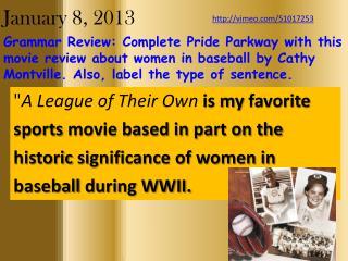 January 8, 2013
