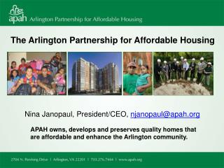 The Arlington Partnership for Affordable Housing