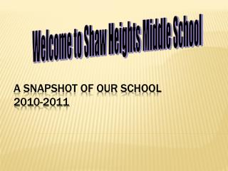 A snapshot of our school 2010-2011