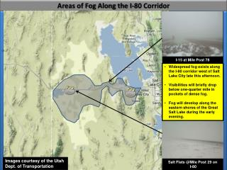 Areas of Fog Along the I-80 Corridor