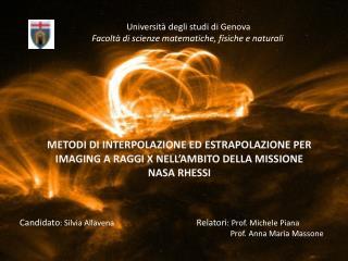Università degli studi di Genova Facoltà di scienze matematiche, fisiche e naturali