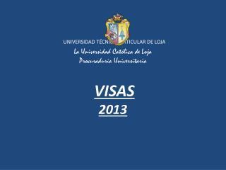VISAS  NO INMIGRANTE CATEGORÍAS 12 12-I A 12-X (VISITANTES TEMPORALES)