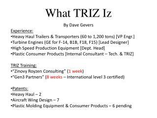 What TRIZ Iz