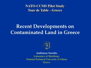 NATO-CCMS Pilot Study Tour de Table - Greece