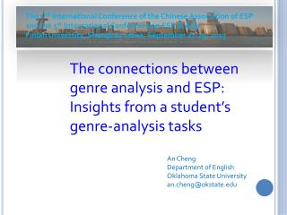 The connections between genre analysis and ESP: Insights from a student's genre-analysis tasks