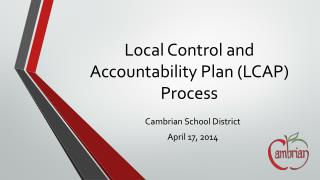 Local Control and Accountability Plan (LCAP) Process