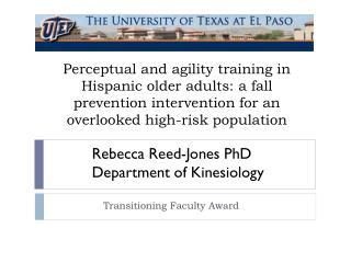 Transitioning Faculty Award