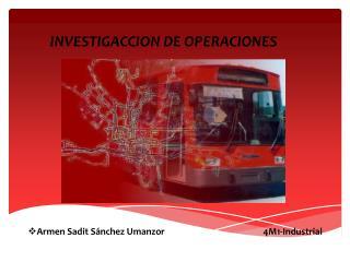 INVESTIGACCION DE OPERACIONES