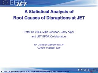 A Statistical Analysis of  Root Causes of Disruptions at JET