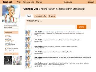 Grandpa Joe  is having fun with his grandchildren after retiring!